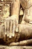 Handnahaufnahme von Buddha stockfotos