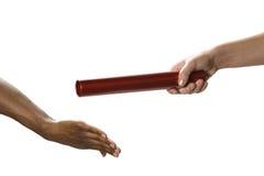 Handoff del bastone del relè Immagini Stock Libere da Diritti