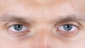 Handome attractive young man eyes close up Stock Photography