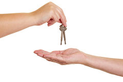 Handover of keys Royalty Free Stock Image