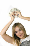 Handover the money Stock Images