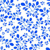 Handpaint blue watercolor  seamless Royalty Free Stock Image