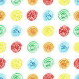 Handpaint watercolor seamless pattern. Royalty Free Stock Image