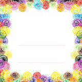 Handpaint watercolor vector frame. Stock Image