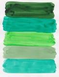 Handpainted зеленая акварель стоковое фото