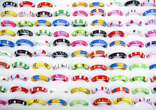 handpainted кольца рынка Стоковая Фотография