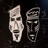 Handpainted african design bla Royalty Free Stock Image