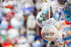 Handpainted Christmas balls Stock Images