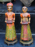 Handpainted dolls of Rajput princes. In Udaipur marketplace, Rajasthan, India, Asia Stock Photo