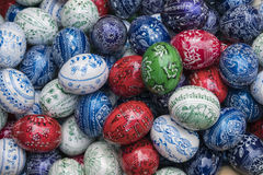 Handpainted easter eggs Royalty Free Stock Images
