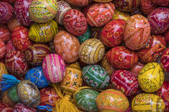 Handpainted easter eggs Stock Photo