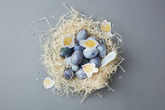Handpainted Easter eggs Royalty Free Stock Image