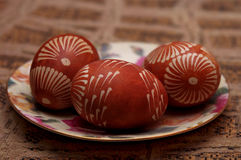 Handpainted Easter eggs. Poland. Royalty Free Stock Photo