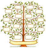 Handpainted Family Tree. Hand drawn and painted decorative family tree with room to personalize with family names stock illustration