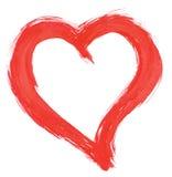 Handpainted heart Stock Image