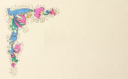 Handpainted ink Stock Image