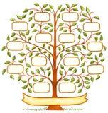Handpainted Rodzinny drzewo Zdjęcia Stock