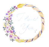 Handpainted watercolor template, watercolor ornament, watercolor Stock Photography