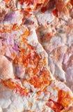 Handpainting abstrait en blanc et rouge Images stock