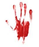 Handpalmöl-Farbendruck Stockfoto