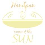 Handpan Intrument musical ethnique illustration stock