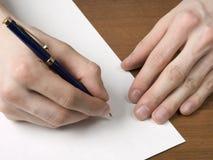 handpenna Arkivfoto