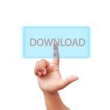 Handpers op downloadpictogram Stock Fotografie
