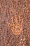 handpetroglyph Arkivfoto