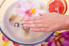 Handpflege-Badekurort Lizenzfreie Stockfotos