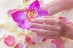 Handpflege-Badekurort Stockfoto