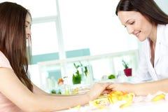 Handpflegeberatung Lizenzfreies Stockfoto