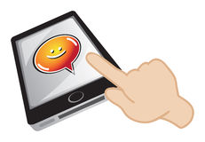 Handphone chatting Royalty Free Stock Photo