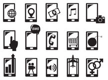 Handphone Function Icon Set Vector Illustration Stock Photography