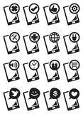 Handphone Function Icon Set Vector Illustration Stock Images