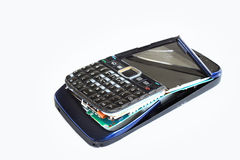 Handphone rotto Immagini Stock