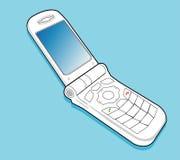 Handphone van de tik stock illustratie