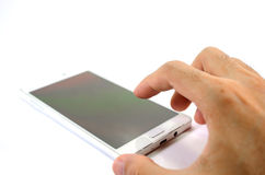Handphone on White Stock Images
