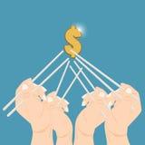 Handpinnar för pengar Royaltyfria Bilder