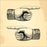 Handpoint humano, vintage do estilo do esboço Fotografia de Stock