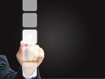 Handpressemit berührungseingabe bildschirm Lizenzfreies Stockbild