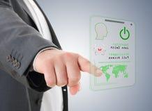 Handpressen die Zugriffskarte Lizenzfreie Stockfotografie