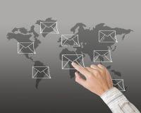 Handpressen-eMail-Zeichen Stockfoto