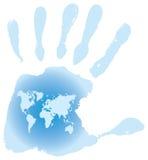 handprint έξι toe Στοκ εικόνες με δικαίωμα ελεύθερης χρήσης