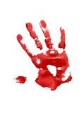 handprint κόκκινο Στοκ φωτογραφίες με δικαίωμα ελεύθερης χρήσης