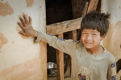 Handprint στο Νεπάλ Στοκ φωτογραφία με δικαίωμα ελεύθερης χρήσης