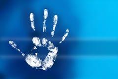 handprint загадочное Стоковая Фотография RF