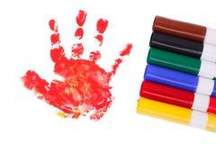 handprint ребенка Стоковое Изображение