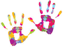 Handprint Photographie stock