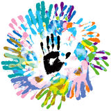 Handprint Photo libre de droits