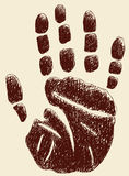Handprint Obrazy Royalty Free